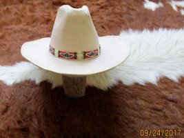 Custom Made Cowboy Style Hatband with  Porcupine Quills   Handcrafted  - $94.00