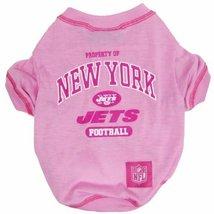 NFL New York Jets Pink Dog T-Shirt, Medium. - Football Sports Fan Pet Sh... - $4.94