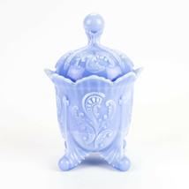 Northwood Auburn Opaque Blue Slag Covered Sugar, Antique Inverted Fan & ... - $343.00