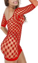 Women's Mesh Lingerie Fishnet Babydoll Mini Dress image 4