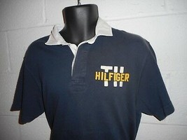 Vintage 90s Tommy Hilfiger Spell Out Short Sleeve Polo Medium - $14.99