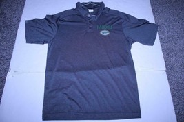 Men's Green Bay Packers M Polo Collared Dress Shirt (Charcoal Grey) NFL Team App - $18.69