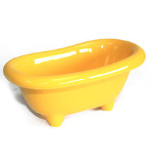 Design Tub Bathroom Decor Accessories Storage Ceramic Mini Bath- Lemon G... - $15.37