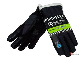 Isotoner Signature Women's Gloves Black Ivory SmarTouch Thermaflex Core $48 - $12.00
