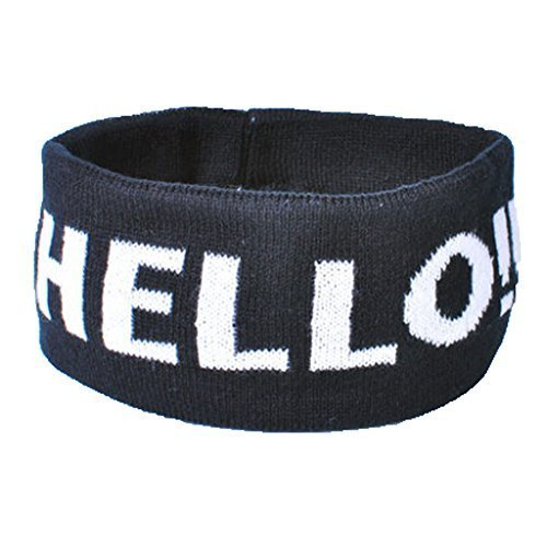 Knitting Headbands Wide Headband for Sports or Fashion, HELLO