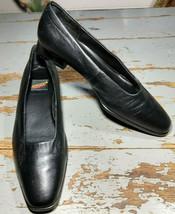 "Aerosoles Black Leather 1"" Pumps Size 8B - $14.70"