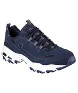Skechers D'Lites Navy shoes Men's Memory Foam Sport Comfort Casual Leath... - $56.99