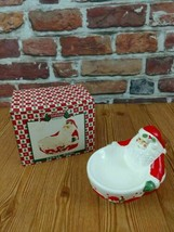 Santa Clause Dip Bowl / Candy Dish Holiday Collection Collectible Preowned - $9.75