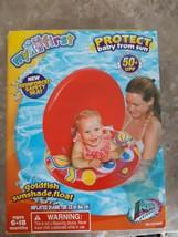 Aqua Leisure Goldfish Sunshade Float Ages 6 to 18 Months 50 UPF Sun Prot... - $19.75