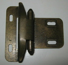 """1 Vtg Self Closing Hinge 1/2"""" Overlay Full Wrap Burnished Brass 60332 More Avail - $1.48"""