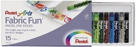 Pentel Arts Fabric Fun Pastel Dye Sticks, 15 Color Set PTS-15 - $5.87