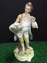"Vintage Lefton China ""George"" KW3046A 1950 English Boy Figurine Statue 7... - $18.99"