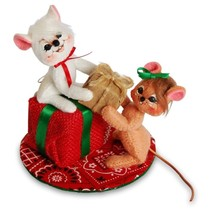 """Annalee 2016 Christmas 3"""" A GIFT FOR ALL MICE Collectible Poseable Doll ... - $23.76"""
