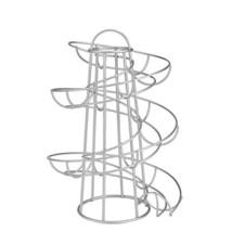 Flexzion Egg Skelter Deluxe Modern Spiraling Dispenser Rack Medium - Chr... - $15.72