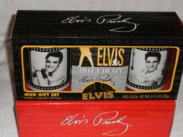 Elvis Presley Movie clips on 2 Mugs w/cocoa Mix in a gift box - $20.00