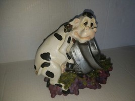 Direct Connections Cow Wine Bottle Holder Vintage Rare - $46.53