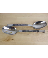 INTERPUR INR8 Stainless Serving Spoons Pierced Lot of 2 Japan   - $19.99