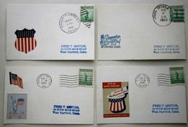 (4) 1942 WWII Patriotic Postal Covers from Camp Forrest, Ten.,  Indianto... - $18.00
