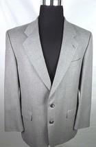 Alexandre of England Mens Suit Coat 42 Long Gray Two Button 100% Wool En... - $29.65