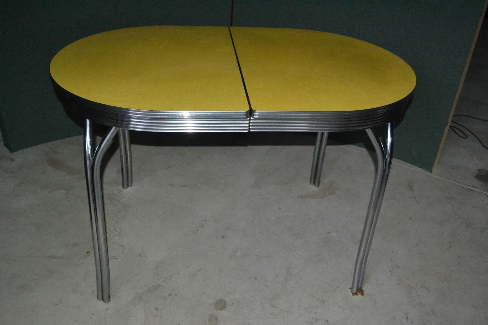 Formica Chrome Kitchen Table Vintage Mid Century Modern Retro
