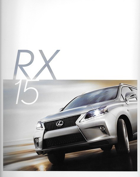 Primary image for 2015 Lexus RX 350 F SPORT 450h HYBRID brochure catalog 15 US
