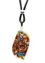 Orgone 7 Chakra Pendant Orgone Eye  EMF Protection Beaded Cord Necklace  - $6.67
