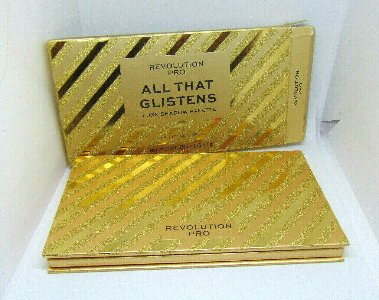 Primary image for REVOLUTION PRO ALL THAT GLISTENS Luxe Eyeshadows Palette 18 x 0.035oz/1g NIB