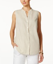 Charter Club Light Beige Textured Tank Top Linen, Small - $13.85