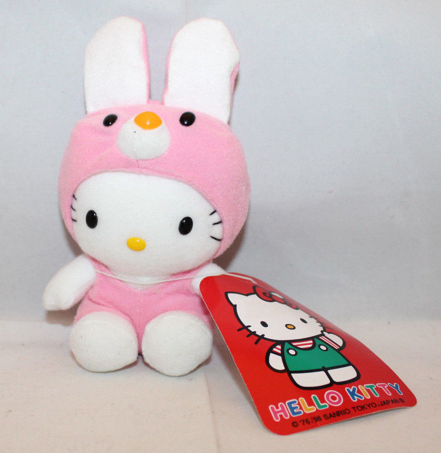 "Primary image for Sanrio Japan Hello Kitty Plush 16cm 6.25"" Pink Removable Rabbit Bunny Dress (B)"