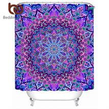BeddingOutlet Mandala Boho Shower Curtain Purple Blue Waterproof Floral ... - $32.90