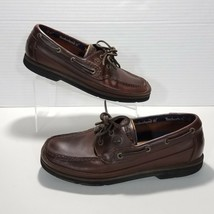 Timberland Leather Moc Toe 2 Eye Boat Shoes Mens Size 10.5M Dark Brown 5... - £22.49 GBP