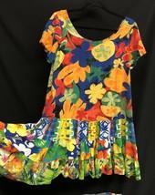 Jams World Sz Large Hattie Babydoll Floral Rayon Floral Hawaiian Women D... - $84.55