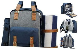 Picnic Backpack for 4   Picnic Basket   Stylish All-in-One Portable Picn... - $131.83