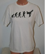 "TAEKWONDO Evolution T-Shirt Chest 37"" White Small Womens TaeKwonDo Mens - $5.00"