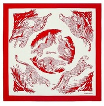 Hermes Carre 90 Tatuage Scarf Stole Guepards Red Animal Silk 100% Woman ... - £525.75 GBP