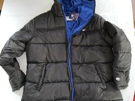Men's Champion Black Down Jacket Parka Winter Hooded Puffer Thick Coat X... - $47.50