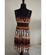Tie Dye Style Empire Waist  Belted Dress By Wrapper Size Small S - $14.39