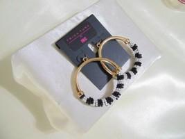 INC International Concepts Gold-Tone Beaded Hoop Earrings S111 $34 - $12.47