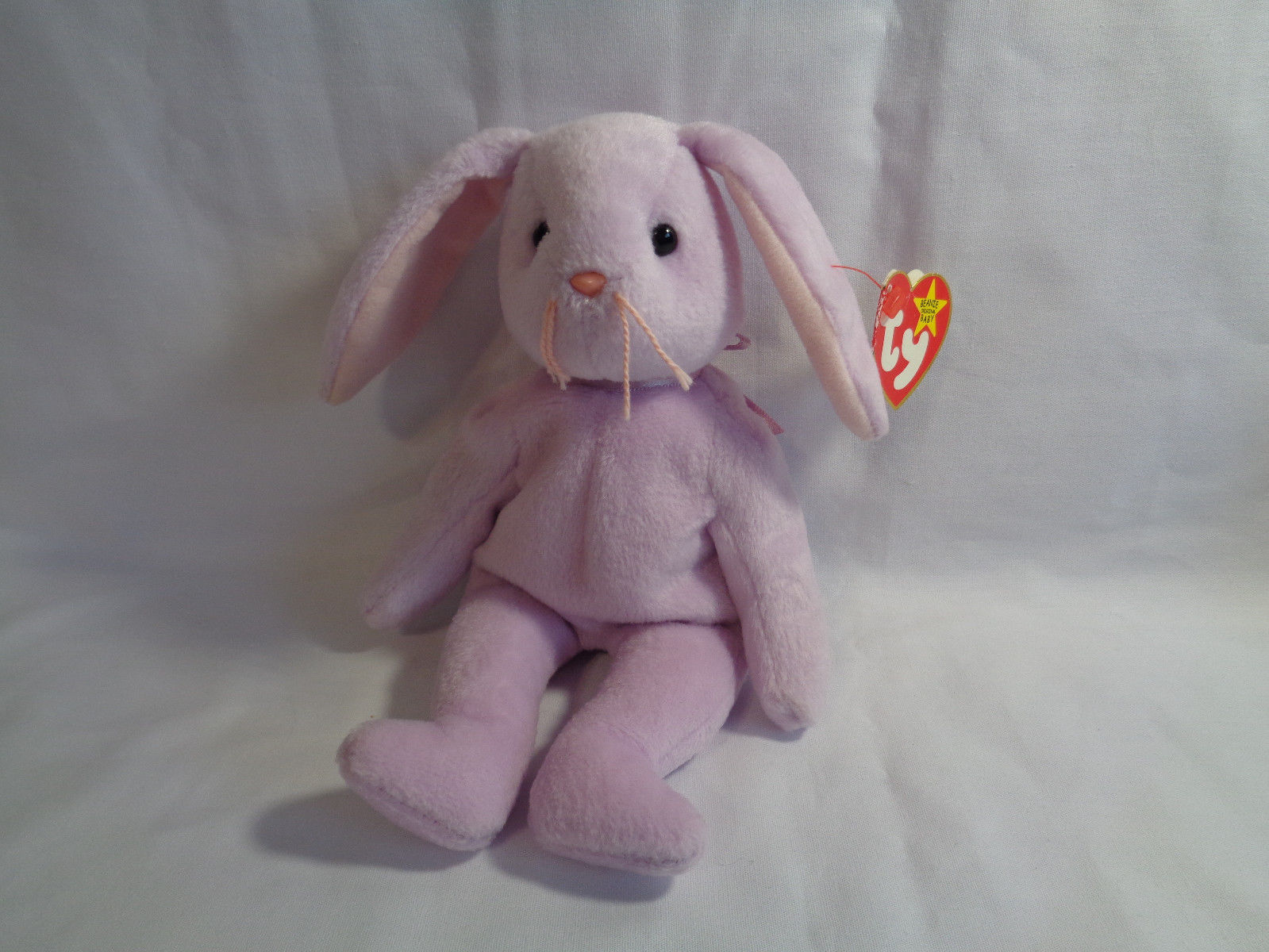 """TY Beanie Babies 1996 Lavender Bunny Floppity 8"""" w/ Hang Tag 5/23/96"""