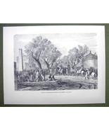 AFRICA Bagirmi Sultan Entering Capital Massena - 1858 Engraving Print - $11.25