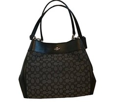 COACH Lexy Shoulder Bag in Outline Signature khaki/chalk F57612 (Smoke/B... - $173.25