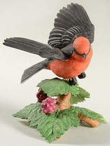 THE LENOX GARDEN BIRD COLLECTION Pine Grosbeak (Fine Porcelain 1999) - $44.50