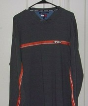 Tommy Jeans Mens XL Embroidered 100% Cotton Crew Neck Long Sleeve Shirt - $26.96