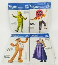 Henson Muppet Costume Vogue Patterns Kermit Miss Piggy Animal Fozzie 198... - $148.49