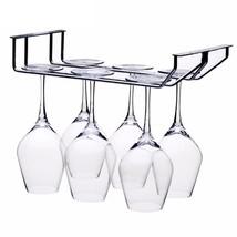 Cup Glasses Holder Rows Stainless Steel Kitchen Utensil Wine Kitchen Racks - $18.69