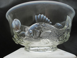 Scarce C1960s Fenton Opalescent Trout Bowl Original Label Mid Century As... - $229.99