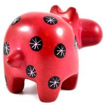 Tabaka Chigware Hand Carved Kisii Soapstone Red Black Hippopotamus Hippo Figure image 3