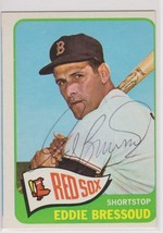 Eddie Bressoud Signed Autographed 1965 Topps Baseball Card - Boston Red Sox - $12.99