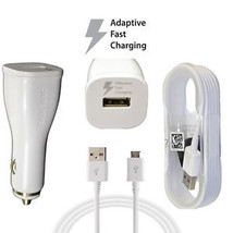 Original OEM Samsung Fast Adaptive Charging Car Charger W/ 5 Micro USB C... - $16.49