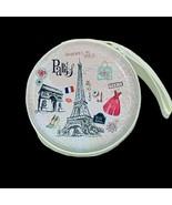 Paris Round Zippered Coin Case - $15.00
